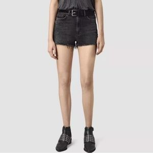 ALL SAINTS  Black High Waisted Mabel Shorts